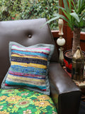 Hand Made Kilim Rag Rug Cushion Cover - Penny Bizarre - 1