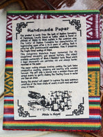 Hand Made Nepalese Bhutani Woven Fabric Notebook Pocket Book - Penny Bizarre - 3