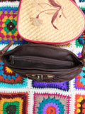 Vintage 80s Dark Brown Leather Concho Bag - Penny Bizarre - 4