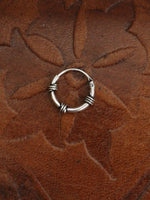 Hand Crafted 925 Sterling Silver Balinese Nose Ring 8mm - Penny Bizarre - 1