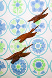 Rustic Vintage Hand Crafted Wooden Indian Flying Birds - Penny Bizarre - 1