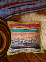 Hand Made Kilim Rag Rug Cushion Cover - Penny Bizarre - 4