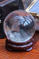 Mini Crystal Ball With Wooden Stand 40mm - Penny Bizarre - 2