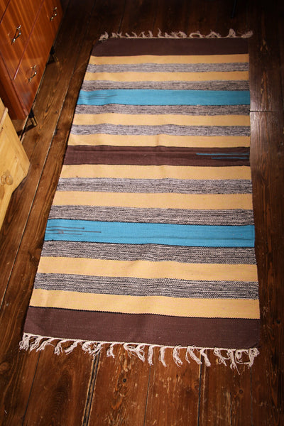 Hand Woven Indian Dhurrie Rug (medium) - Penny Bizarre - 1