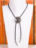 Hand Crafted Navajo Concho Bootlace Bolo Tie Western Necklace - Penny Bizarre - 1