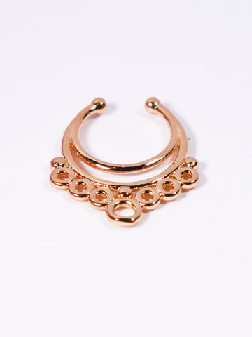 Rose Gold Moon Rings Non-pierced Septum Ring - Penny Bizarre