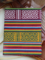 Hand Made Nepalese Bhutani Woven Fabric Notebook Pocket Book - Penny Bizarre - 2