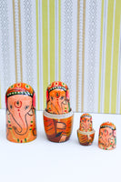 Hand-made Wooden Russian Dolls Set Ganesh Elephant - Penny Bizarre - 3
