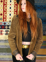 Vintage 1970s Tan Suede & Leather Jacket - Penny Bizarre - 3