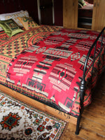 Nepalese Aztec Wool Throw Blanket Shawl - Penny Bizarre - 3