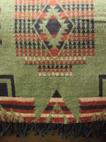 Nepalese Aztec Wool Throw Blanket Shawl - Penny Bizarre - 7