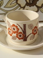 1970's Brown Floral Tea For Two - Penny Bizarre - 2