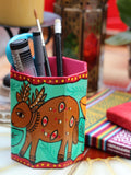 Nepalese Hand Painted Pen Holder - Penny Bizarre - 3