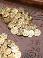 Hand Crafted Vintage Indian Coin Earrings (Gold or Silver) - Penny Bizarre - 3