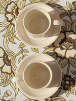 1970's Brown Floral Tea For Two - Penny Bizarre - 3