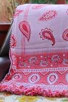 Vintage Paisley Hearts Tapestry Throw Blanket - Penny Bizarre - 4