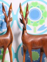 Vintage 70's Wooden Antelope (pair) - Penny Bizarre - 2