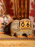 Wooden Indian Elephant Calendar - Penny Bizarre - 1