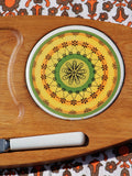 1970's Funky Mandala Tile Cheese Board & Knife - Penny Bizarre - 2