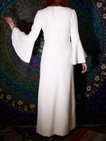 Vintage 1970s White Maxi Goddess Wedding Dress - Penny Bizarre - 3