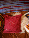 Indian Hand Made Embroidery & Mirrors Cushion Cover - Penny Bizarre - 3