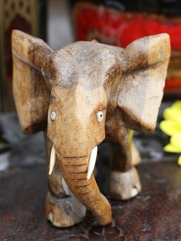 Medium Vintage Wooden Indian Elephant - Penny Bizarre - 1