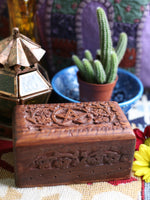 Hand-made Indian Wooden Box Pentagram - Penny Bizarre - 2