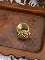 Hand Crafted Vintage Indian Wirework Flower Ring (Gold) - Penny Bizarre - 3