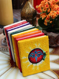 Hand Made Nepalese Embroidered Tie Dye Notebook - Penny Bizarre - 1