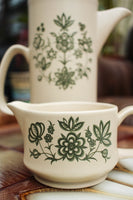 1970's Royal Worcester Palissy Coffee Pot & Creamer / Milk Jug - Penny Bizarre - 4