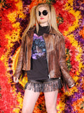 Vintage Brown Leather Biker Tassel Jacket - Penny Bizarre - 4