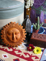 Indian Mellow Sun Terracotta Wall Plaque - Penny Bizarre - 1