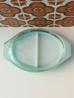 1960's Pyrex Snowflake Lidded Divided Cooking Serving Dish - Penny Bizarre - 5