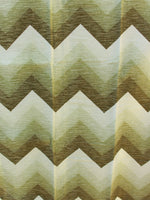 Vintage 1970's Green Zig Zag Curtains Brand New - Penny Bizarre - 2