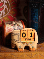 Wooden Indian Elephant Calendar - Penny Bizarre - 3
