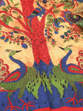 Indian Wall Hanging Double Throw Bedspread Tree of Life Peacocks - Penny Bizarre - 4