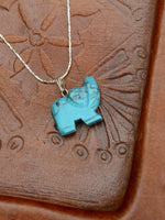 Hand Crafted Gemstone Elephant Necklace - Penny Bizarre - 13