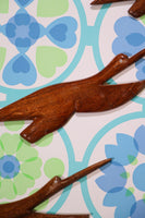 Rustic Vintage Hand Crafted Wooden Indian Flying Birds - Penny Bizarre - 2