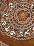 Hand Crafted Anklet Mini Peace Symbols - Penny Bizarre - 2
