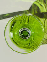 1970's Green Wine Glasses x 2 - Penny Bizarre - 3