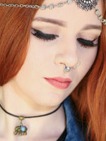 Tribal Single Crystal Non-pierced Septum Ring (gold or silver) - Penny Bizarre - 1