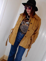 Vintage 1970s Tan Leather Jacket - Penny Bizarre - 5