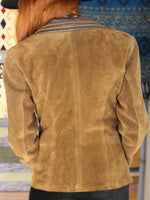 Vintage 1970s Tan Suede & Leather Jacket - Penny Bizarre - 6