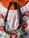 Handcrafted Indian Anisha Hoop Necklace (silver or bronze) - Penny Bizarre - 4