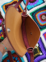 Vintage 70s Oxblood Leather Saddle Bag - Penny Bizarre - 5