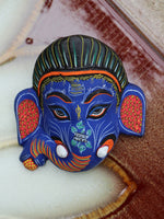 Ceramic Indian Ganesh Elephant Wall Hanging Mask - Penny Bizarre - 3