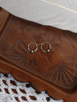 Hand Crafted 925 Sterling Silver Balinese Hoop Earrings 10mm - Penny Bizarre - 2