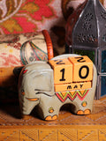 Wooden Indian Elephant Calendar - Penny Bizarre - 5