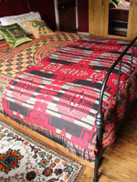 Nepalese Aztec Wool Throw Blanket Shawl - Penny Bizarre - 4