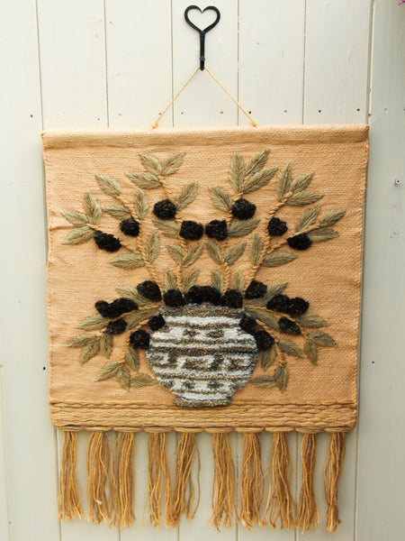 Vintage 1970's Hand Made Bohemian Wall Hanging - Penny Bizarre - 1